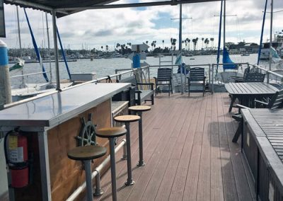 Party Cat Charter Boat Deck from Seaforth Boat Rentals