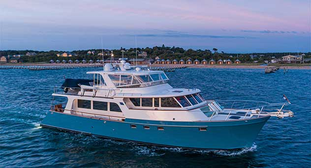 Marlow 70 Power Yacht from Seaforth Boat Rentals
